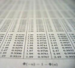 דף עם נתונים סטיסטיים